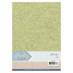 Card Deco Glitter -paperipakkaus, Gold, A4