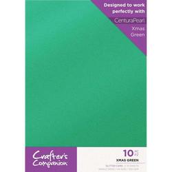 Crafter's Companion Glitter -kartonki, Xmas Green, A4