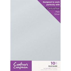 Crafter's Companion Glitter -kartonki, Pale Silver, A4