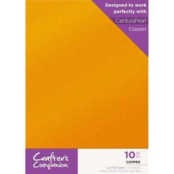 Crafter's Companion Glitter -kartonki, Copper A4