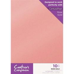 Crafter's Companion Glitter -kartonki, Rose Gold A4
