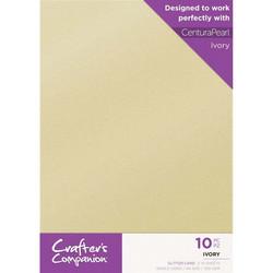 Crafter's Companion Glitter -kartonki, Ivory, A4