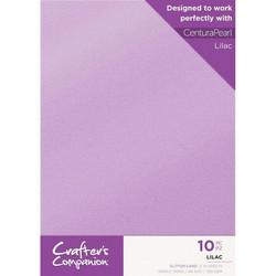 Crafter's Companion Glitter -kartonki, Lilac, A4