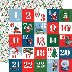 Carta Bella Merry Christmas skräppipaperi Countdown To Christmas