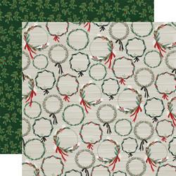 Carta Bella Christmas Market skräppipaperi Wreaths