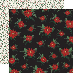 Carta Bella Christmas Market skräppipaperi Poinsettias