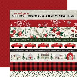 Carta Bella Christmas Market skräppipaperi Border Strips