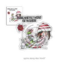 Polkadoodles Heartfelt Wishes -leimasinsetti