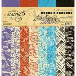 Graphic 45 -paperipakkaus Life's a Journey, Pattern & Solids, 12