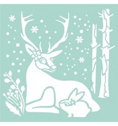 Stamperia sapluuna Reindeer & Rabbit