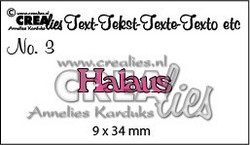 Crealies stanssi Halaus
