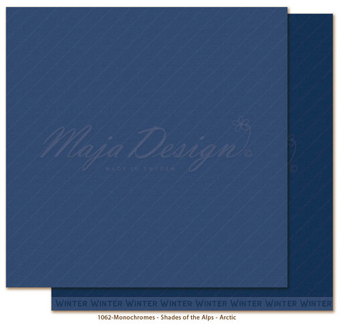 Maja Design Monochromes - Shades of the Alps skräppipaperi Arctic