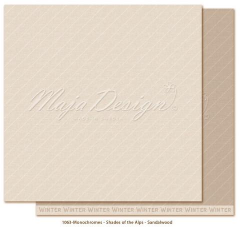 Maja Design Monochromes - Shades of the Alps skräppipaperi Sandalwood