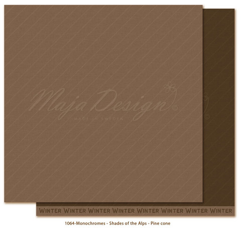 Maja Design Monochromes - Shades of the Alps skräppipaperi Pine cone