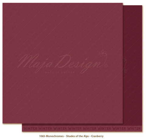 Maja Design Monochromes - Shades of the Alps skräppipaperi Cranberry