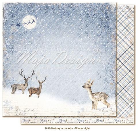 Maja Design Holiday in the Alps skräppipaperi Winter night