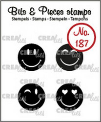 Crealies Bits & Pieces -leimasinsetti Happy Faces, solid