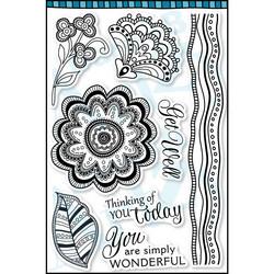 Dare2BArtzy leimasinsetti Blissful Blooms
