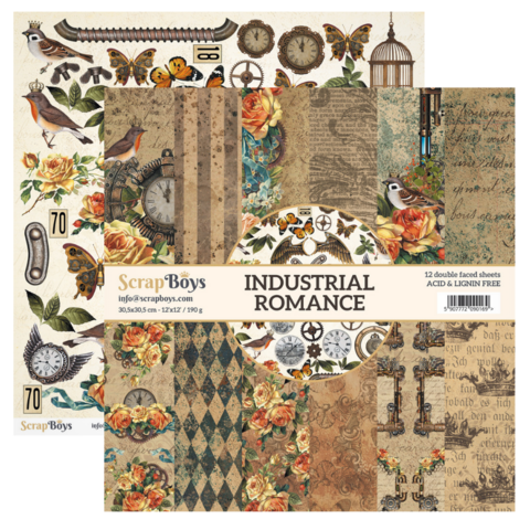 ScrapBoys paperikko Industrial Romance12