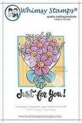 Whimsy Stamps Smiling Flowers -leimasin