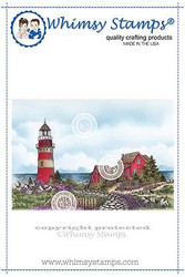 Whimsy Stamps Beach Lighthouse -leimasin