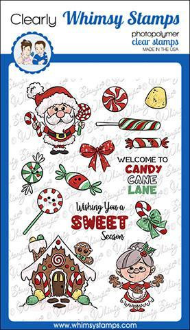 Whimsy Stamps Candy Cane Lane -leimasinsetti