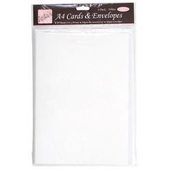 Anita's A4 korttipohja ja yhteensopiva kirjekuori, 4 kpl, valkoinen