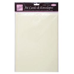Anita's A4 korttipohja ja yhteensopiva kirjekuori, 4 kpl, kerma