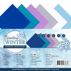 Yvonne Creations kartonkipakkaus Sparkling Winter, 13.5 x 27 cm