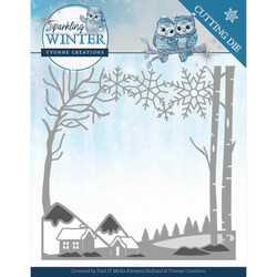 Yvonne Creations Sparkling Winter stanssi Winter Landscape