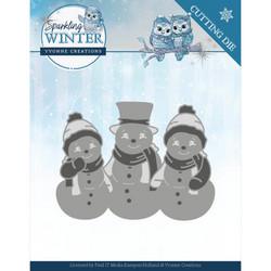 Yvonne Creations Sparkling Winter stanssi Sparkling Snowmen