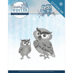Yvonne Creations Sparkling Winter stanssisetti Winter Owls