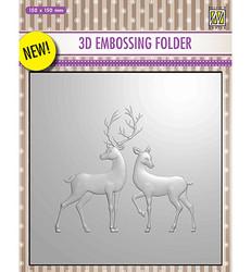 Nellie's Choice 3D kohokuviointikansio Reindeer