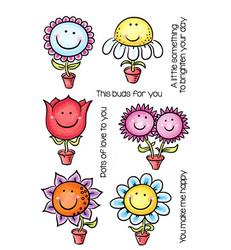 C.C.Designs leimasinsetti Happy Little Flowers