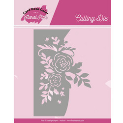 Card Deco Floral Pink stanssi Roses
