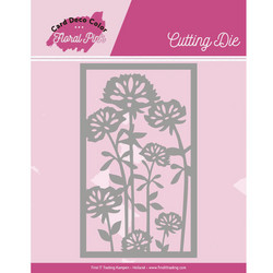 Card Deco Floral Pink stanssi Frame