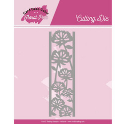 Card Deco Floral Pink stanssi Border