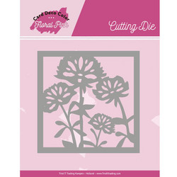 Card Deco Floral Pink stanssi Square