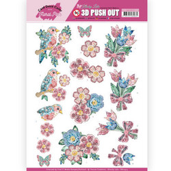 Card Deco Floral Pink 3D-kuvat Kitschy Flowers