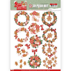 Yvonne Creations Sweet Christmas 3D-kuvat Sweet Wreaths
