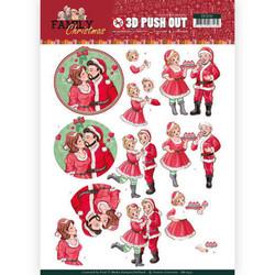 Yvonne Creations Christmas Family 3D-kuvat Loving Christmas
