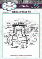 Creative Expressions Andy Skinner Schematic Engine -leimasin