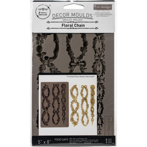 Prima Re-Design Decor Mould -muotti Floral Chain