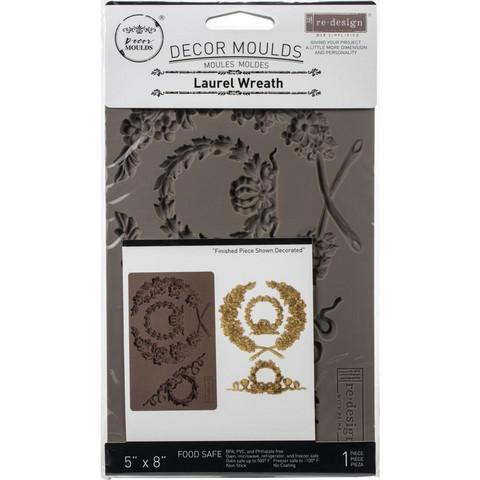 Prima Re-Design Decor Mould -muotti Laurel Wreath