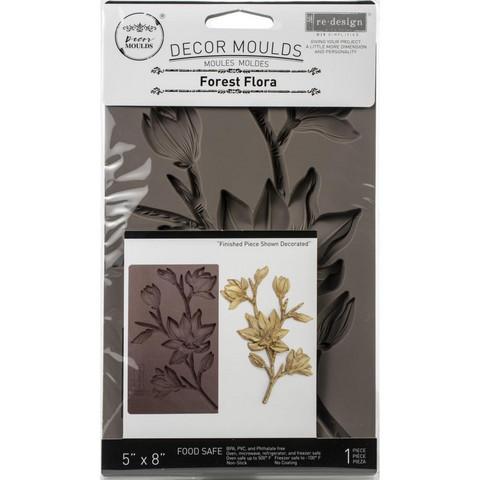 Prima Re-Design Decor Mould -muotti Forest Flora
