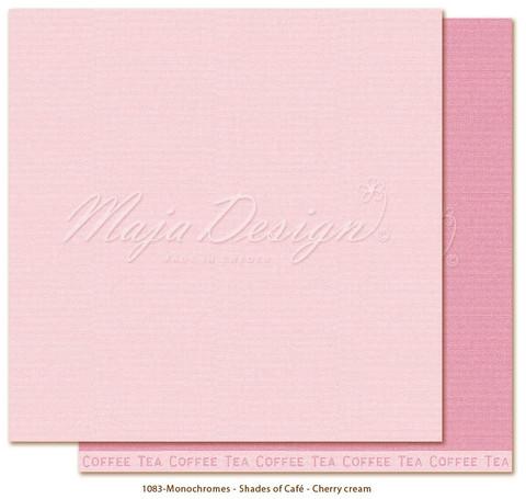 Maja Design Monochromes - Shades of Café skräppipaperi Cherry cream
