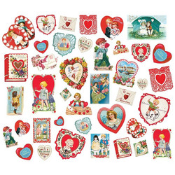 Simple Stories My Valentine Bits & Pieces Die-Cuts, leikekuvat, 40 kpl