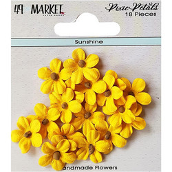 49 and Market Pixie Petals paperikukat Sunshine