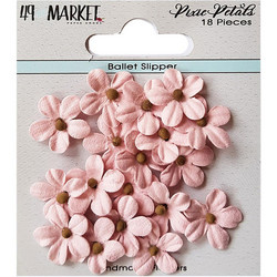 49 and Market Pixie Petals paperikukat Ballet Slipper