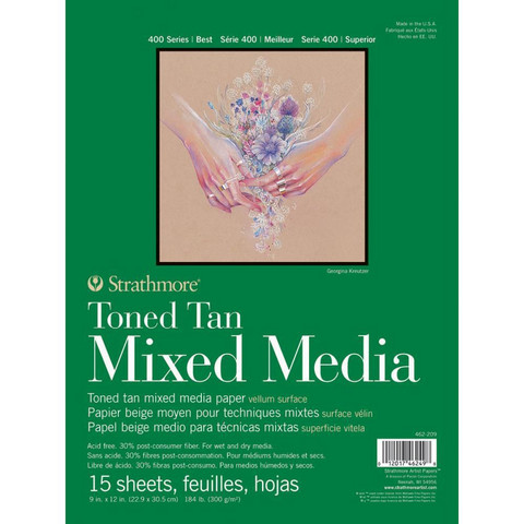 Strathmore Mixed Media -paperipakkaus, 9